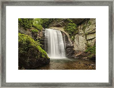 Plunging Waterfall Framed Print by Andrew Soundarajan