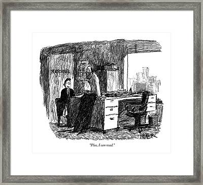 Plus, I Can Read Framed Print