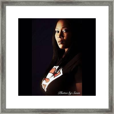 #plusmodel #plus #thick #supergirl Framed Print