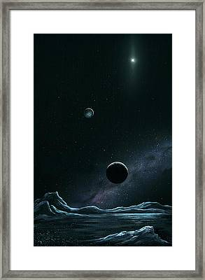 Pluto And Charon From Styx Framed Print