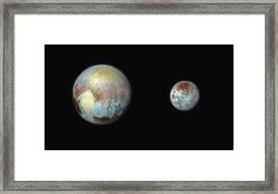 Pluto And Charon Framed Print by Nasa/apl/swri