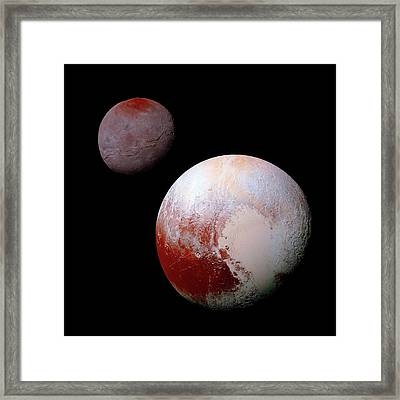 Pluto And Charon Framed Print
