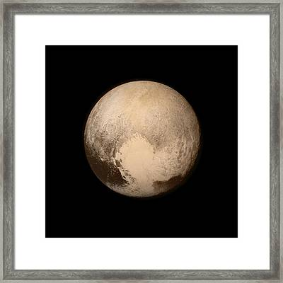 Pluto Framed Print by Nasa/apl/swri