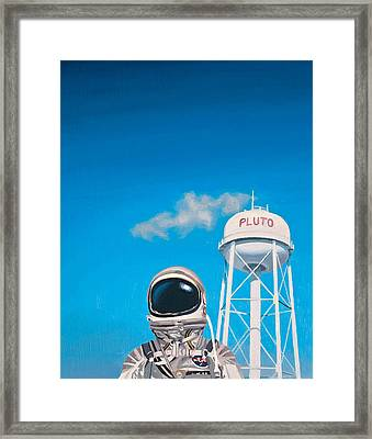 Framed Print featuring the painting Pluto by Scott Listfield