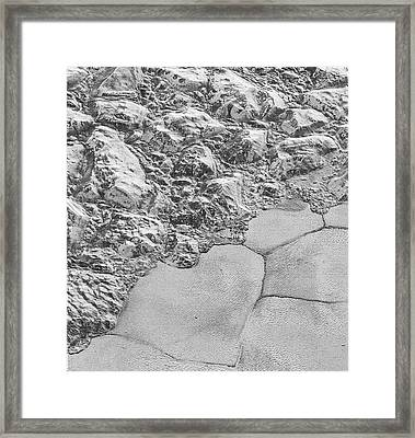 Pluto's Surface Ice Framed Print