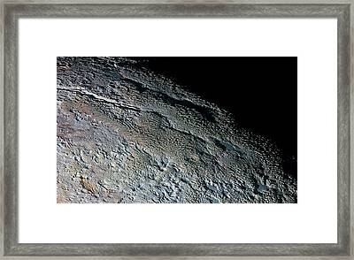 Pluto's Surface Framed Print by Nasa/johns Hopkins University Applied Physics Laboratory/southwest Research Institute