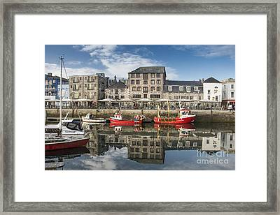 Plymouth Barbican Harbour Framed Print by Donald Davis