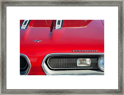 Plymouth Barracuda Grille Emblem Framed Print