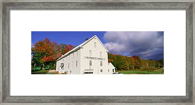 Plymouth Cheese Corporation In Autumn Framed Print by Panoramic Images
