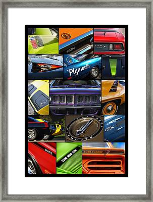 Plymouth Collage No. 1 Framed Print