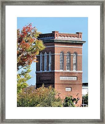 Plymouth Cordage Company Tower Of Mill No 1 Framed Print by Janice Drew