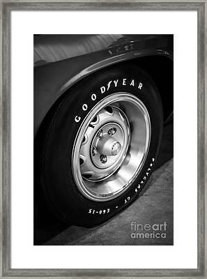 Plymouth Cuda Rallye Wheel Framed Print by Paul Velgos