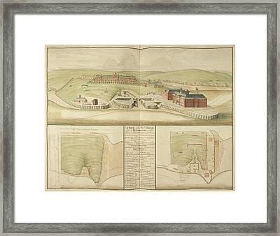 Plymouth Dockyard And Harbour In Devon Framed Print by British Library