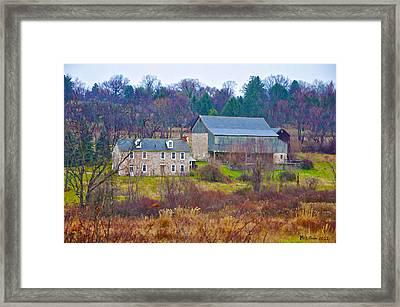 Plymouth Farm Framed Print