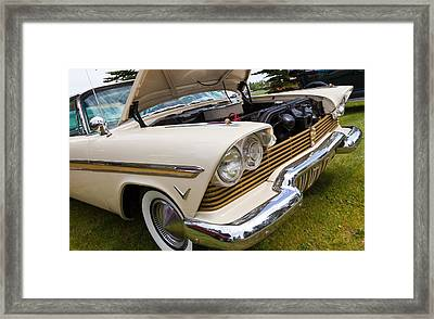 Framed Print featuring the photograph Plymouth Fury Cream by Mick Flynn