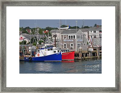 Plymouth Harbor Framed Print by Catherine Reusch Daley
