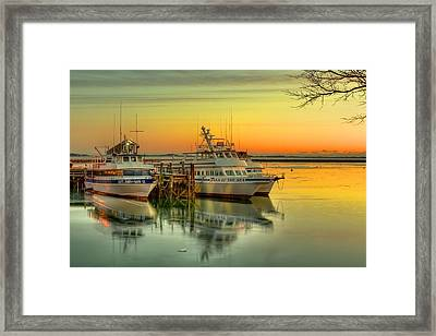 Plymouth Harbor Framed Print by Jack Costello
