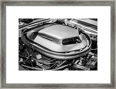 Plymouth Hemi Cuda Engine Shaker Hood Scoop Framed Print