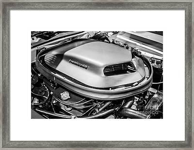 Plymouth Hemi Cuda Engine Shaker Hood Scoop Framed Print by Paul Velgos