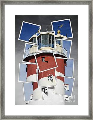 Plymouth Hoe Lighthouse Framed Print by Donald Davis