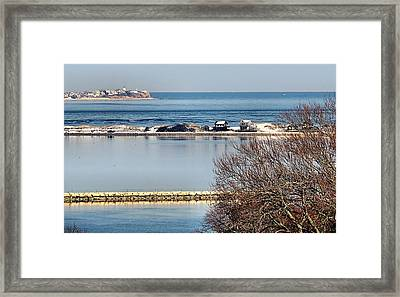 Plymouth Ma Harbor And Bay Framed Print