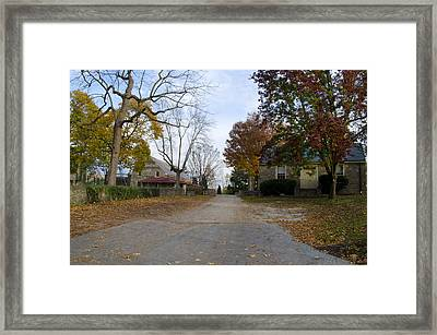 Plymouth Meeting Friends In Autumn Framed Print