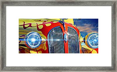 Framed Print featuring the photograph Plymouth Oldie by Aaron Berg