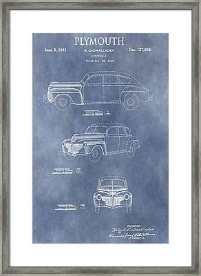 Plymouth Patent Framed Print
