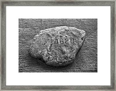 Plymouth Rock In Black And White Framed Print