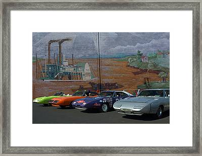 Plymouth Superbirds And Dodge  Daytonas Framed Print