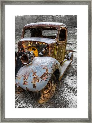 Plymouth Truck Framed Print by Debra and Dave Vanderlaan