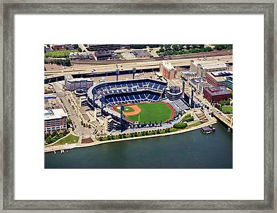 Pnc Park Aerial 2 Framed Print by Mattucci Photography