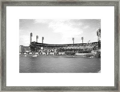 Pnc Park Charcoal Look Framed Print by Stephen Falavolito