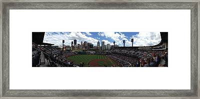Pnc Park Framed Print by Shelley Johnsen