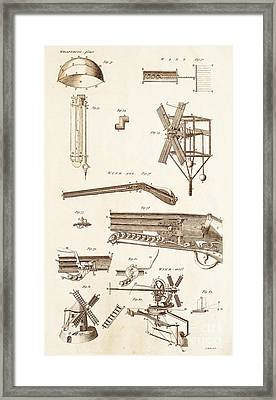 Pneumatic Devices Framed Print by David Parker