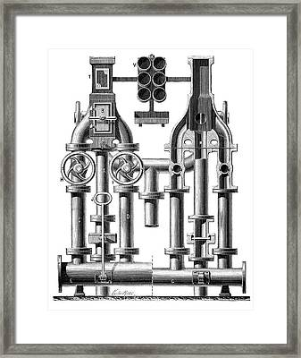 Pneumatic Messaging Framed Print by Science Photo Library
