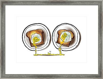 Poached Egg Love Framed Print by Mark Armstrong