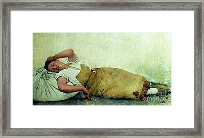 Pobreza De Clarice Framed Print by Pg Reproductions
