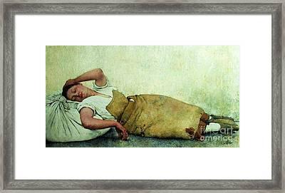 Pobreza De Clarice Framed Print by Pg Reproductions