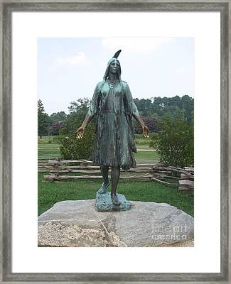 Pocahontas Sculpture Framed Print by Christiane Schulze Art And Photography