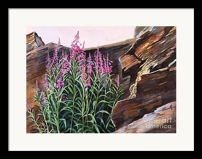 Texture Flower Paintings Framed Prints