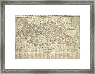 Pocket Plan Of London Framed Print by British Library