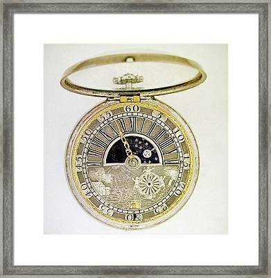 Pocket Watch, C1700 Framed Print by Granger