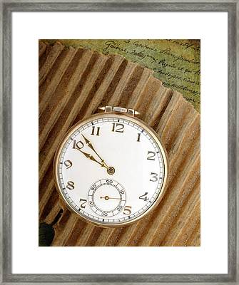 Pocket Watch Framed Print by David and Carol Kelly