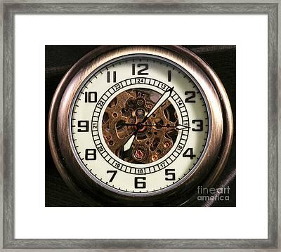 Pocket Watch Framed Print by John Rizzuto