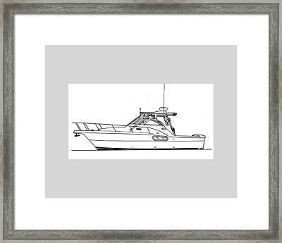 Pocket Yacht Profile Framed Print