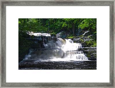 Pocono Mountain Waterfalls Framed Print