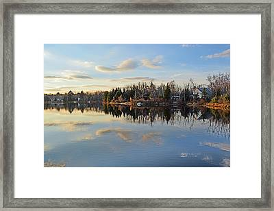 Pocono Summit Lake Framed Print