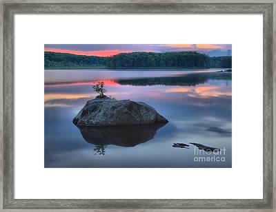Poconos Sunset Mirror Framed Print by Adam Jewell