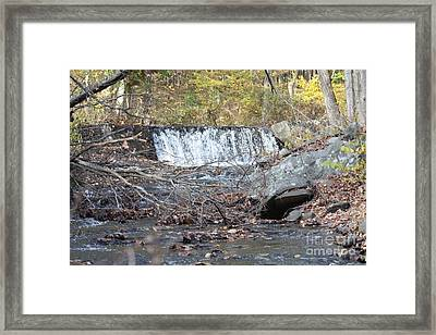Poconos Waterfall And Stream In The Fall Framed Print by John Telfer
